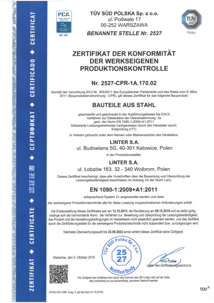 Certyfikat 21 De