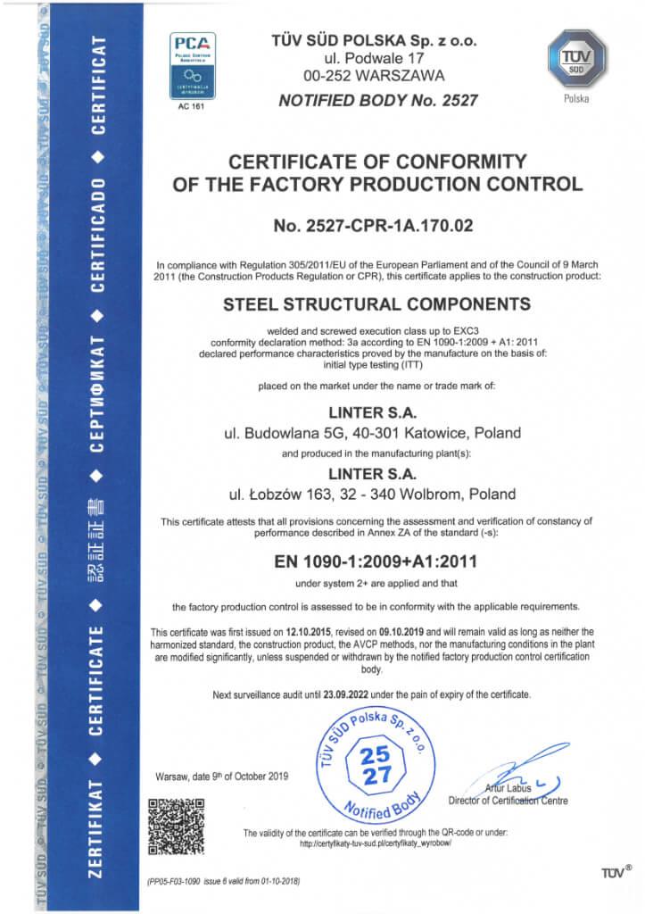 Certyfikat 21 En