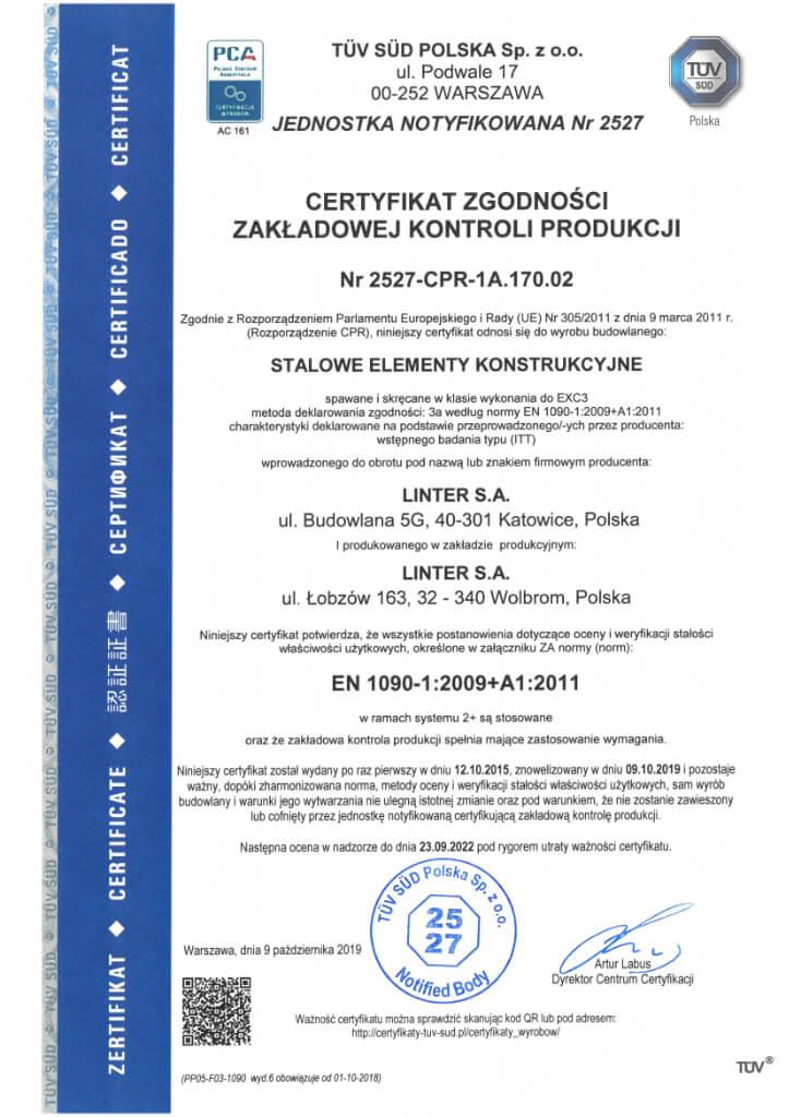 Certyfikat 21 Pl
