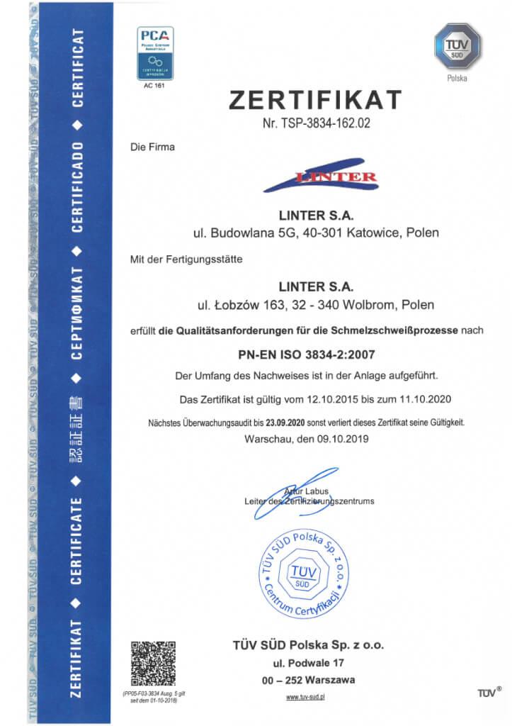 Certyfikat 22 1 De