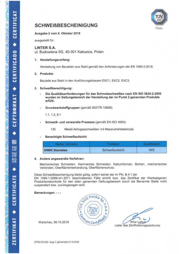 Certyfikat 23 De