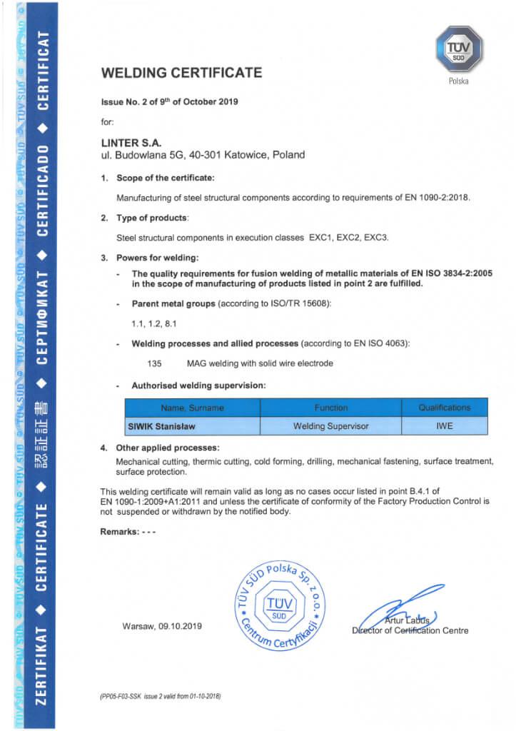Certyfikat 23 En