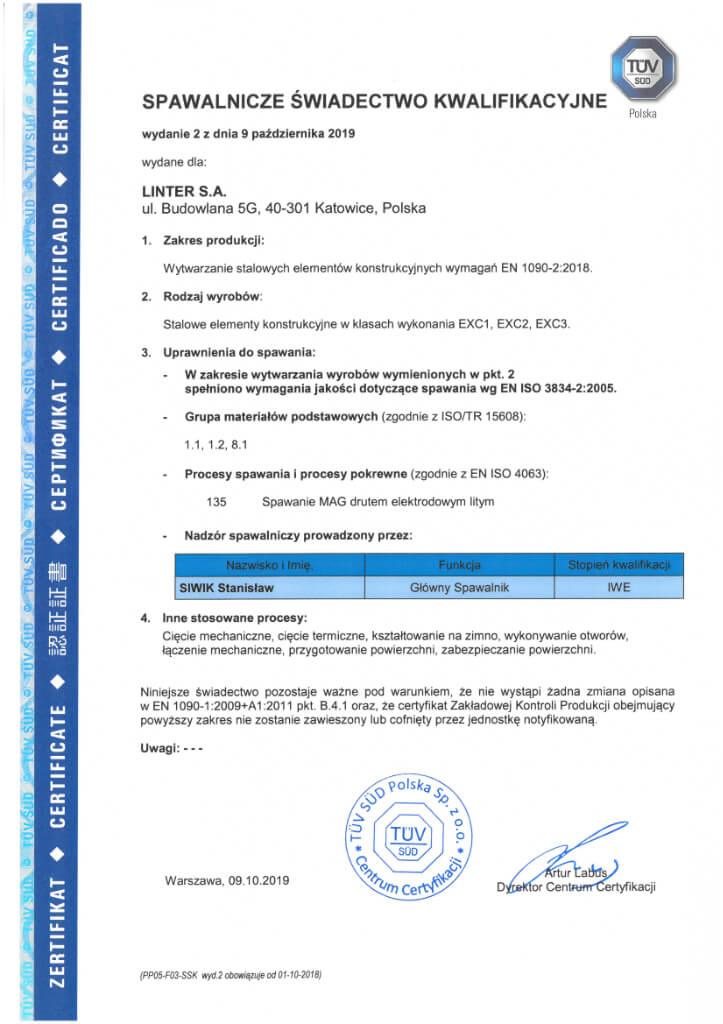 Certyfikat 23 Pl